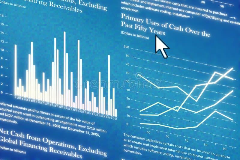 finansrapport royaltyfri illustrationer