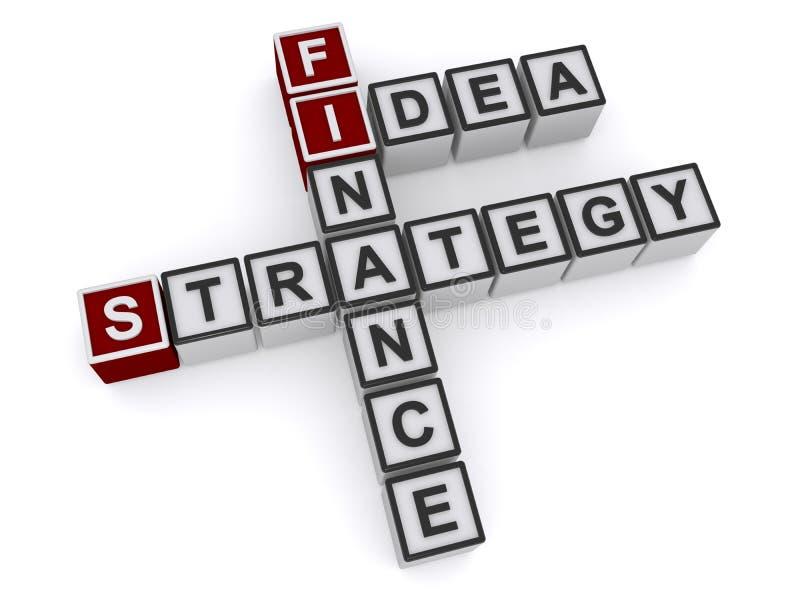 Finansstrategiidé stock illustrationer