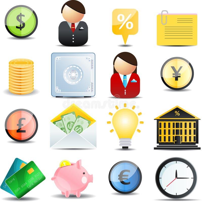 finanssymboler ställde in vektorn stock illustrationer