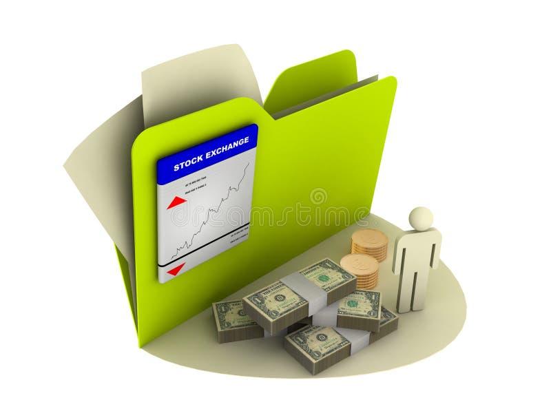 finanssymbolsvärld stock illustrationer