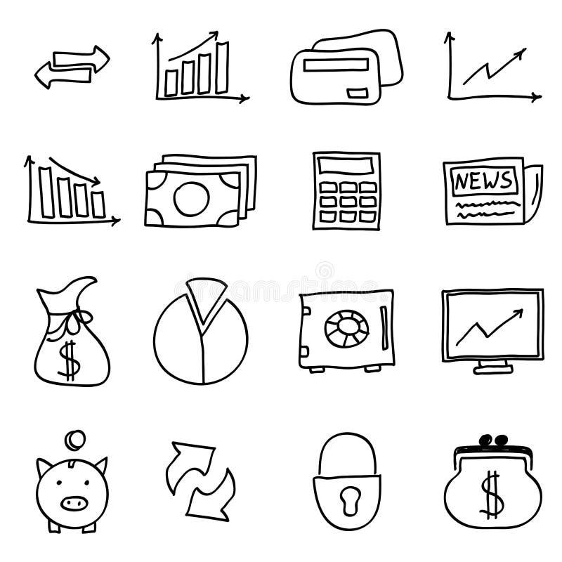 Finansuje ikony ilustracja wektor
