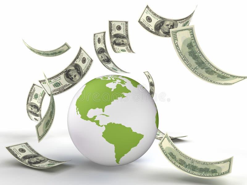 finansvärld royaltyfri illustrationer