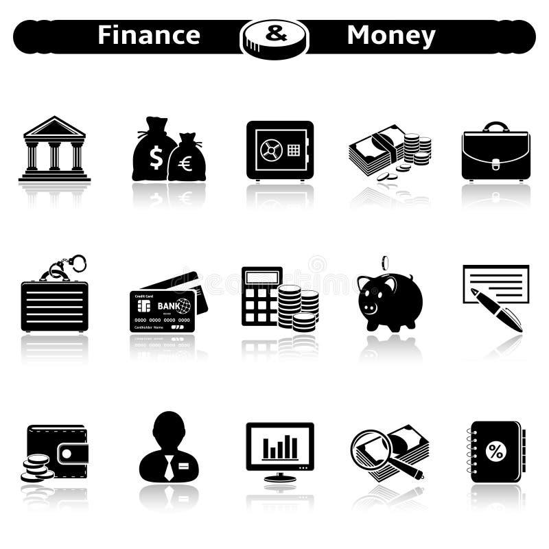 Finanz- und Geldikonen vektor abbildung