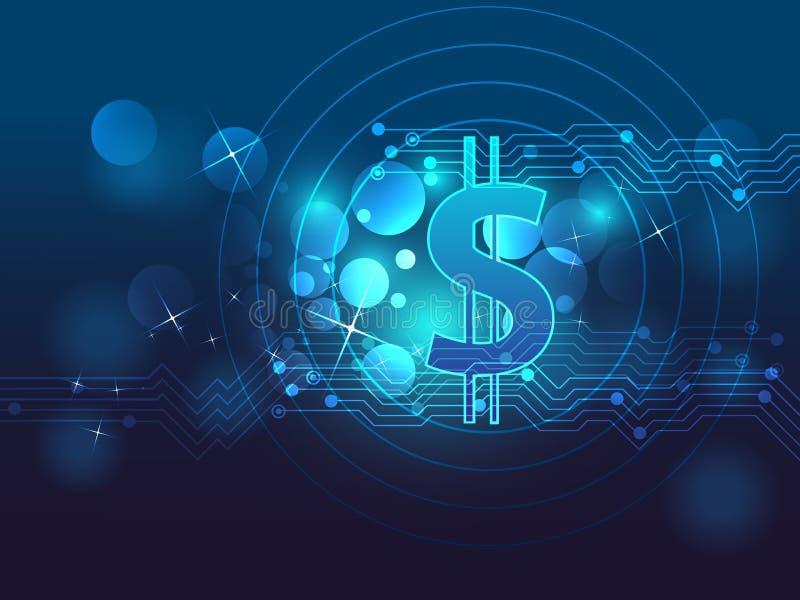 Finanz- und Technologiehintergrund stock abbildung