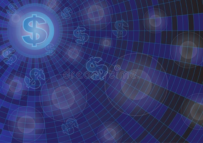 Finanz- und Technologievektorhintergrund stock abbildung