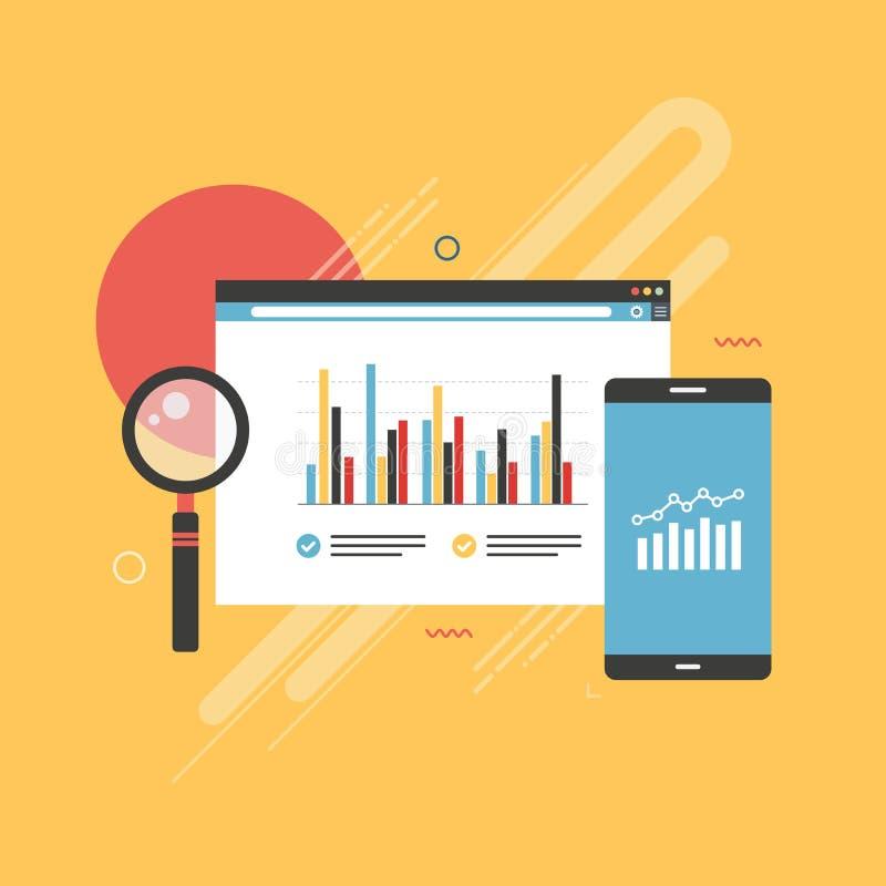 Finanza del grafico e dell'icona, investimento ed affare illustrazione di stock