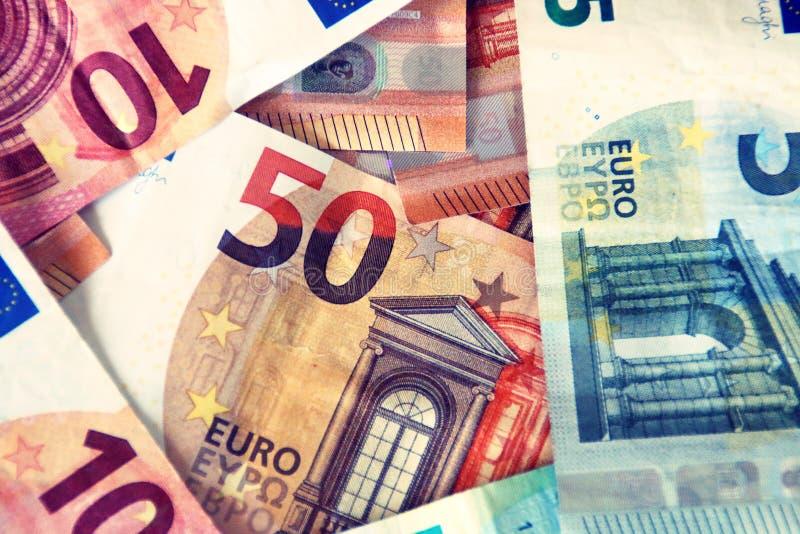 Finanza, fatture/note degli euro fotografia stock libera da diritti