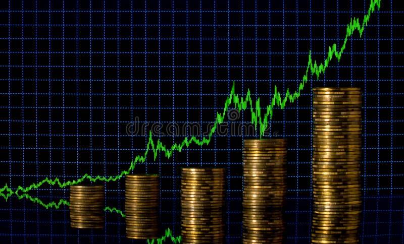 Finanzabstrakter schwarzer Hintergrund Abstraktes Diagramm am Hintergrund von Finanzzahlen und von Diagramm Finanzstadt New York lizenzfreie stockfotografie