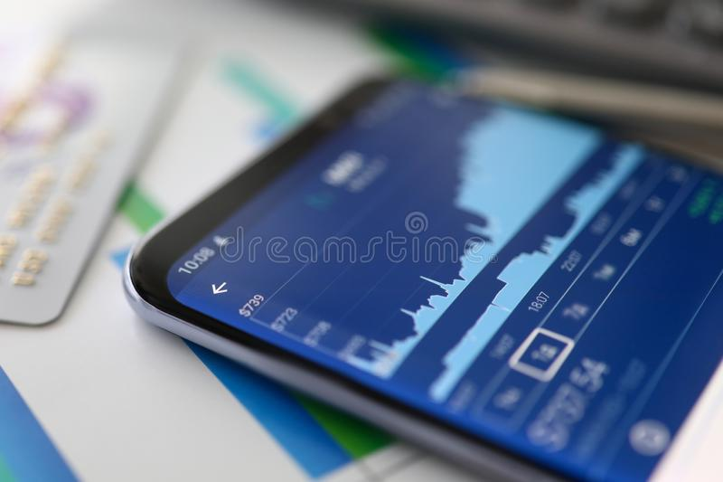 Finanzanalytik Wachstumsdiagrammhandel B?rse-Daten stockfotos