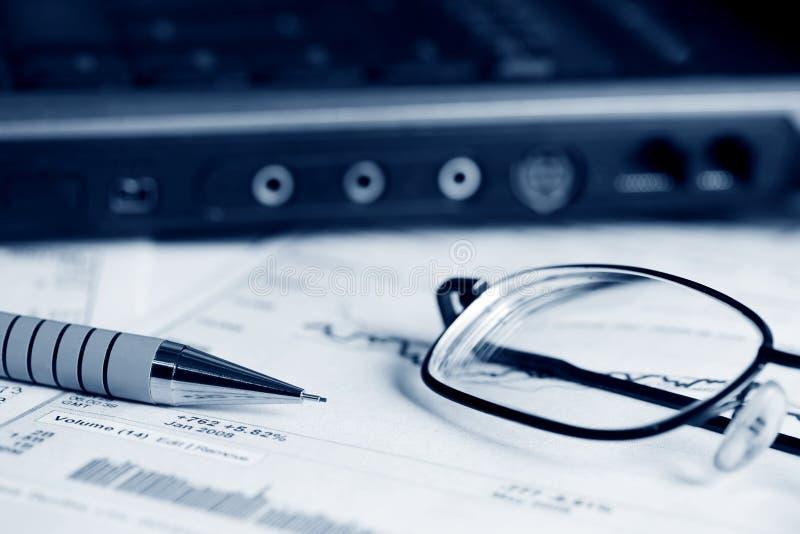 Finanzarbeit. stockfotografie