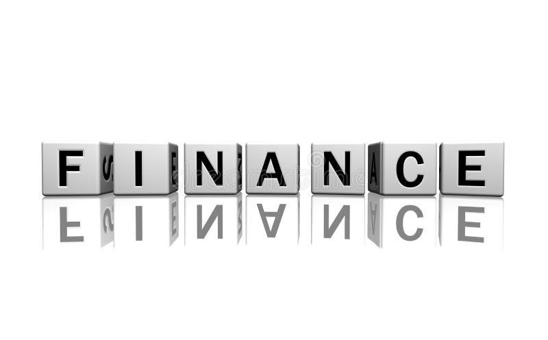 Finanzas blancas de los dados libre illustration