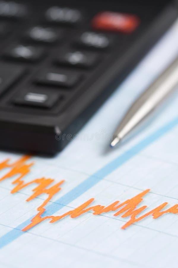Finanzas de la carta imagenes de archivo