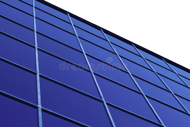 Finanzas de la perspectiva del rascacielos que construyen ventanas de cristal azules fotografía de archivo