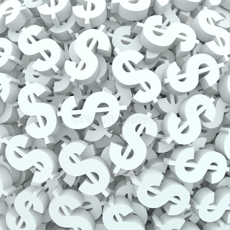 Finanzas de las muestras de dólar del fondo del dinero de la moneda ilustración del vector
