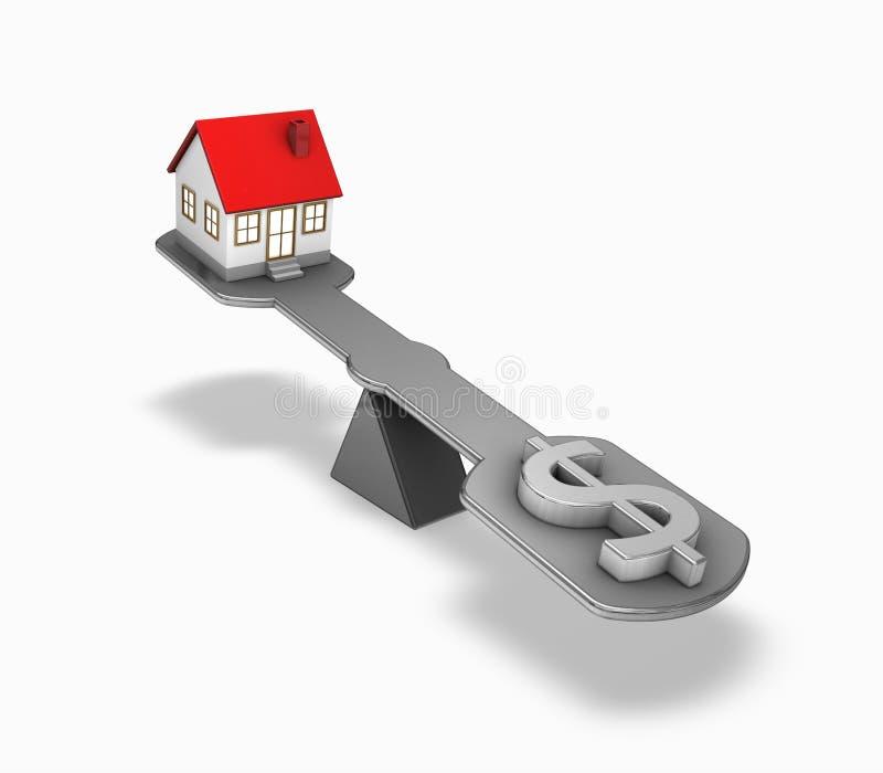 Finanzas de las propiedades inmobiliarias ilustración del vector