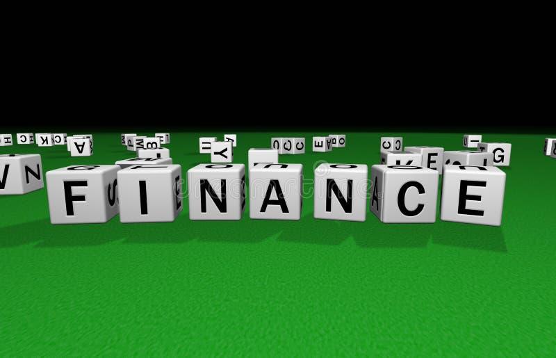 Finanzas de los dados stock de ilustración
