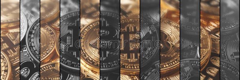 Finanzas del concepto de Cryptocurrency y concepto de la tecnología Bitcoin, stock de ilustración
