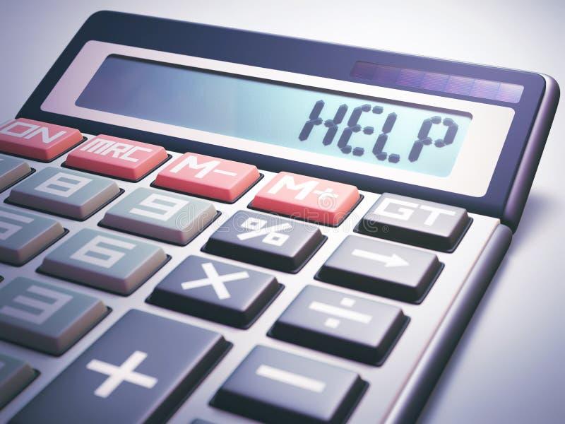 Finanzas del negocio del cálculo de la ayuda stock de ilustración