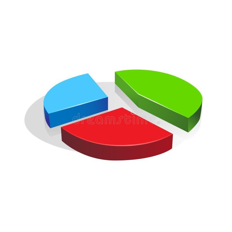 finanzas del negocio del vector del diagrama del gráfico de sectores 3d ilustración del vector
