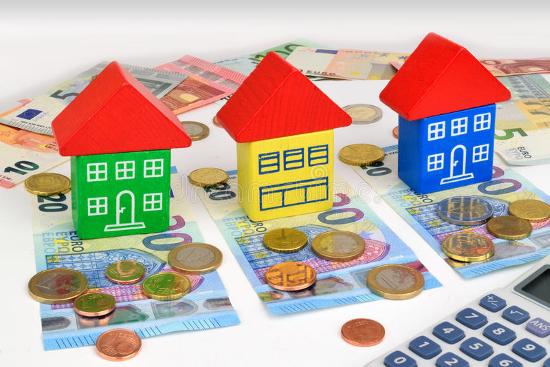 Finanzas euro de la casa fotos de archivo libres de regalías