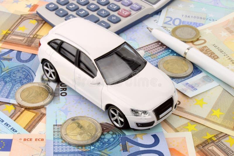 Finanzas euro del coche fotos de archivo