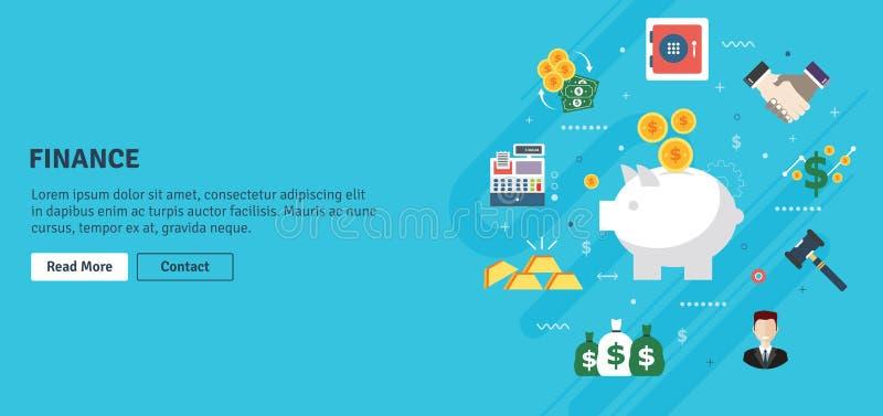 Finanzas y economía, inversión, ahorros y negocio ilustración del vector