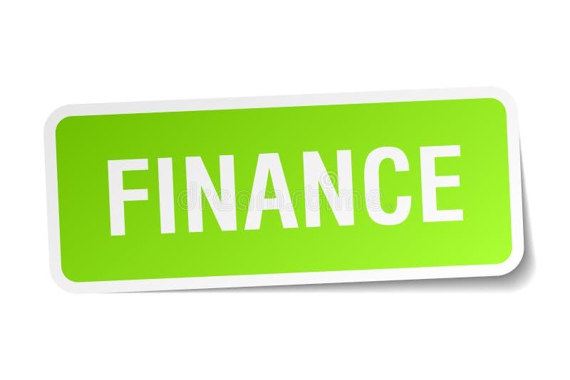 Finanzaufkleber stock abbildung