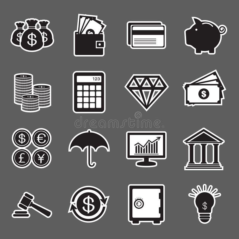 Finanzaufkleberikone lizenzfreie abbildung