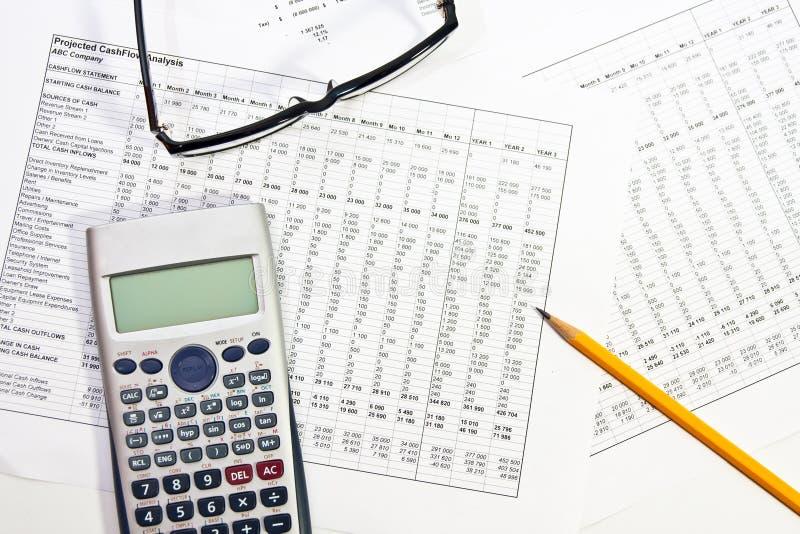 Finanzbericht lizenzfreie stockfotografie