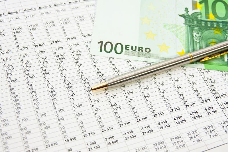 Finanzbericht stockbild
