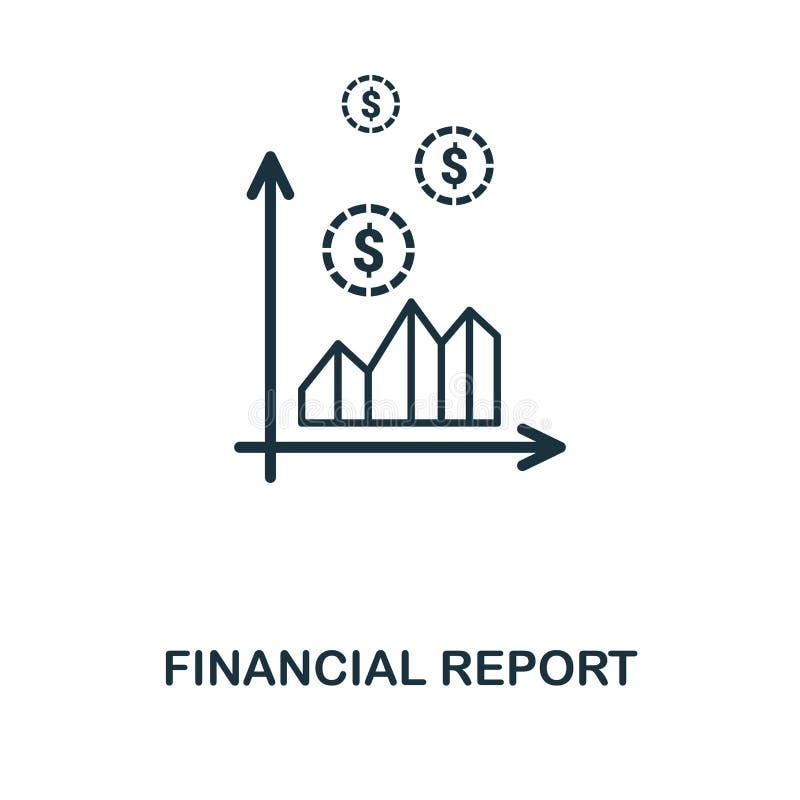 Finanzberichts-Ikone Linie Artikonenentwurf von der persönliche Finanzikonensammlung Ui Piktogramm der Finanzberichtsikone betrie lizenzfreie abbildung