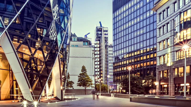 Finanzbezirk, London lizenzfreie stockfotos