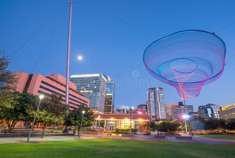 Finanzbezirksbereich von im Stadtzentrum gelegenem Phoenix Arizona stockfoto