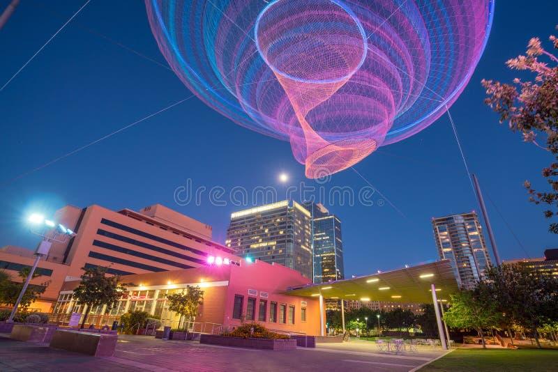 Finanzbezirksbereich von im Stadtzentrum gelegenem Phoenix Arizona lizenzfreie stockfotografie