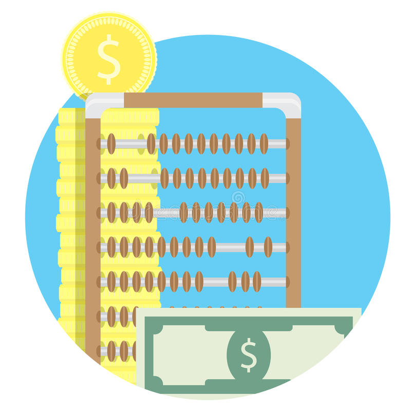 Finanzbuchhaltung und Rechnungsprüfung stock abbildung