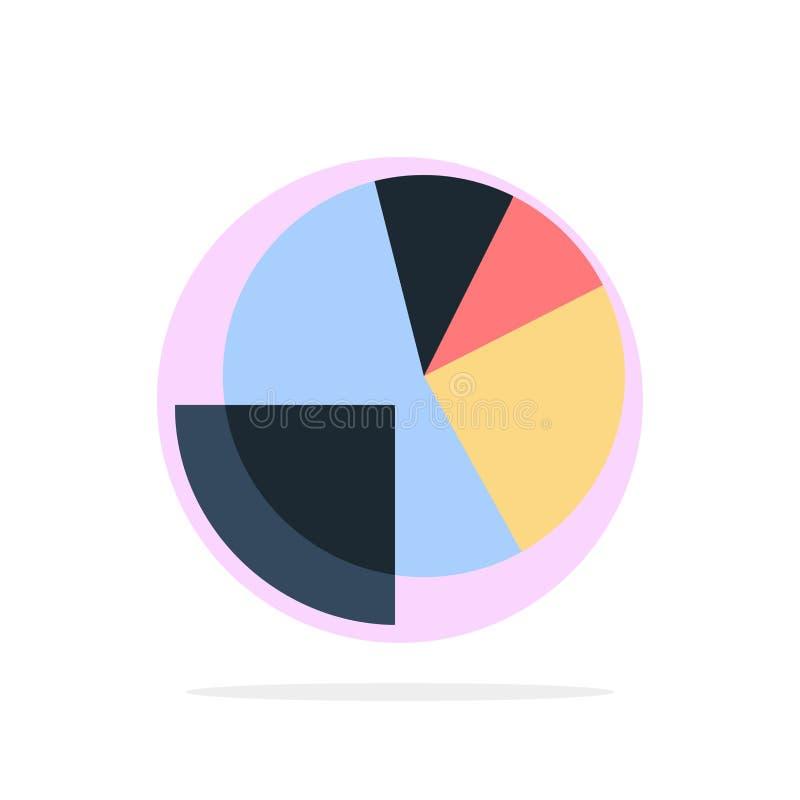 Finanzdaten, Analyse, Analytics, Daten, flache Ikone Farbe des Finanzzusammenfassungs-Kreis-Hintergrundes vektor abbildung