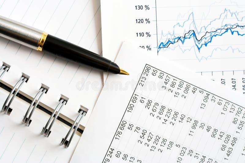 Finanzdatenanalyse stockbilder