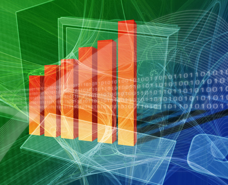 Finanzdatenverarbeitung lizenzfreie abbildung