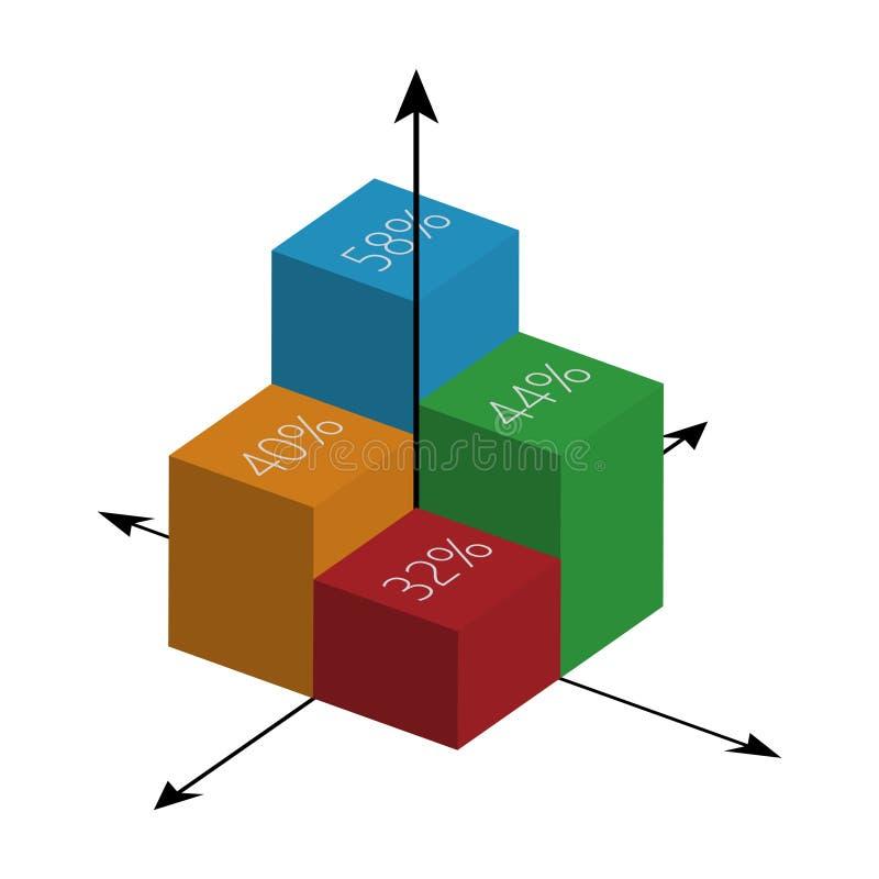 Finanzdiagramm und -graphik Auch im corel abgehobenen Betrag Die goldene Taste oder Erreichen für den Himmel zum Eigenheimbesitze stock abbildung