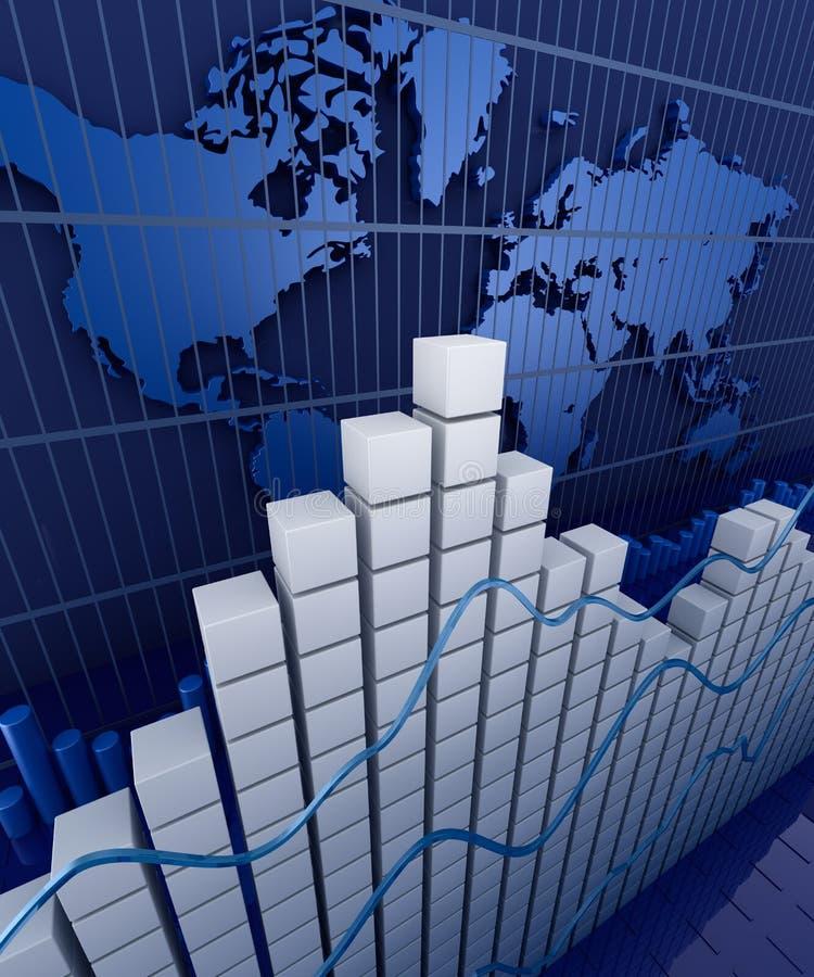 Finanzdiagrammstatistik. Geschäftsnotfall-Hintergrund. stock abbildung