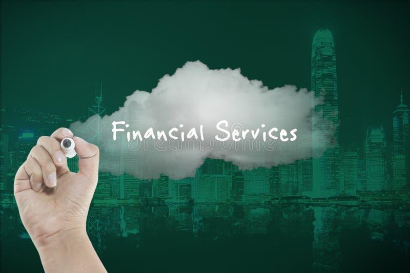 Finanzdienstleistungen auf Wolke stockfoto