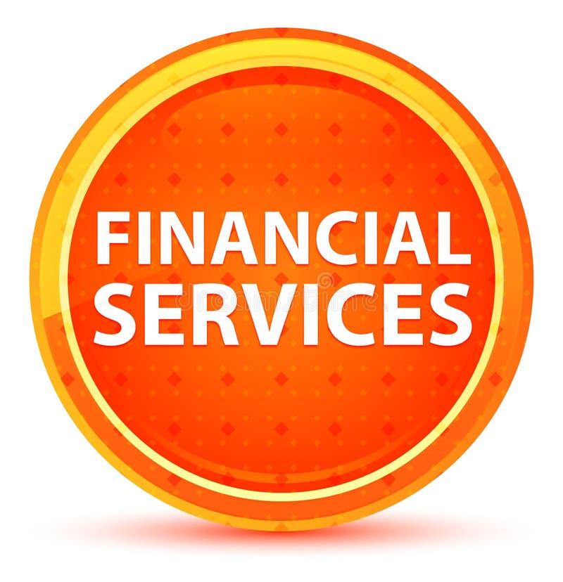Finanzdienstleistungs-natürlicher orange runder Knopf stock abbildung