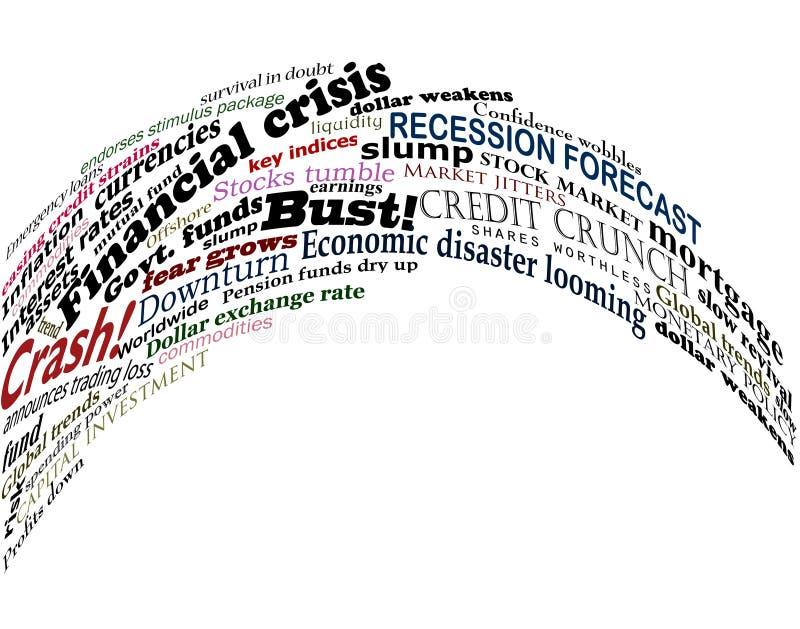 Finanzdurcheinander lizenzfreie abbildung