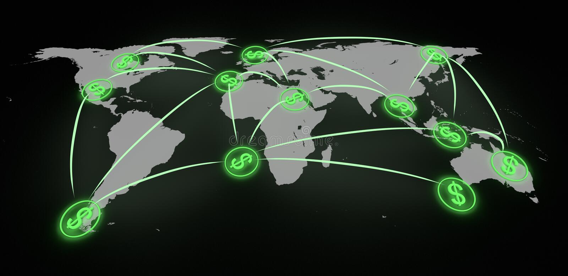 Finanze globali royalty illustrazione gratis