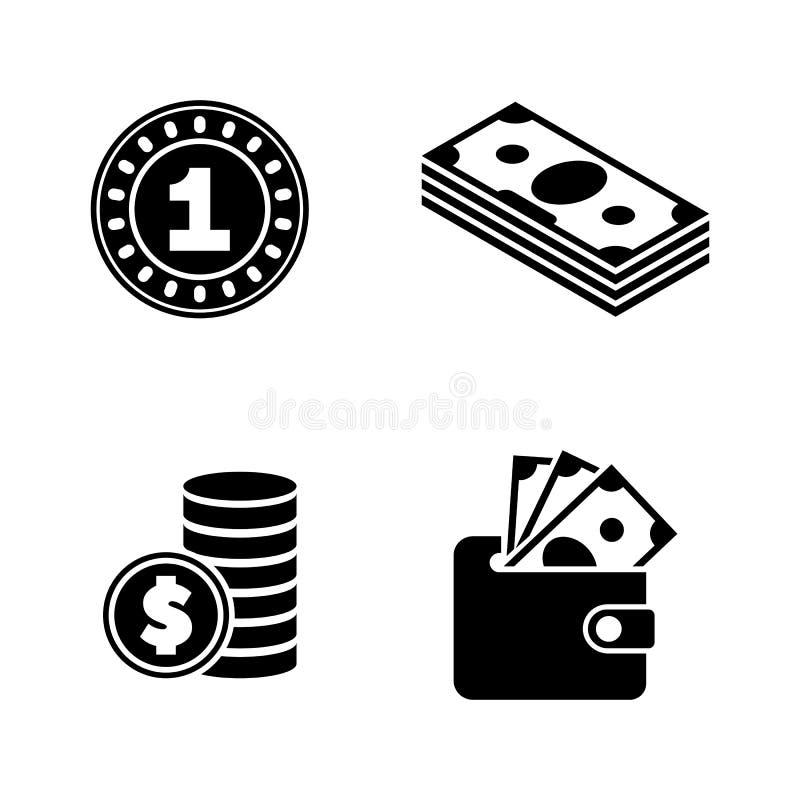 finanzen Einfache in Verbindung stehende Vektor-Ikonen lizenzfreie abbildung