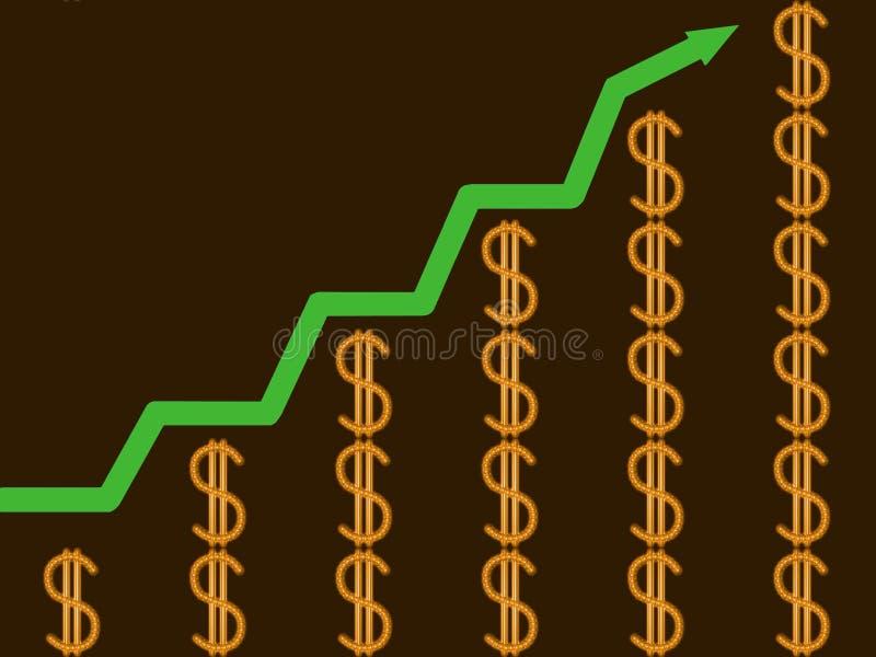 Finanzerfolg vektor abbildung