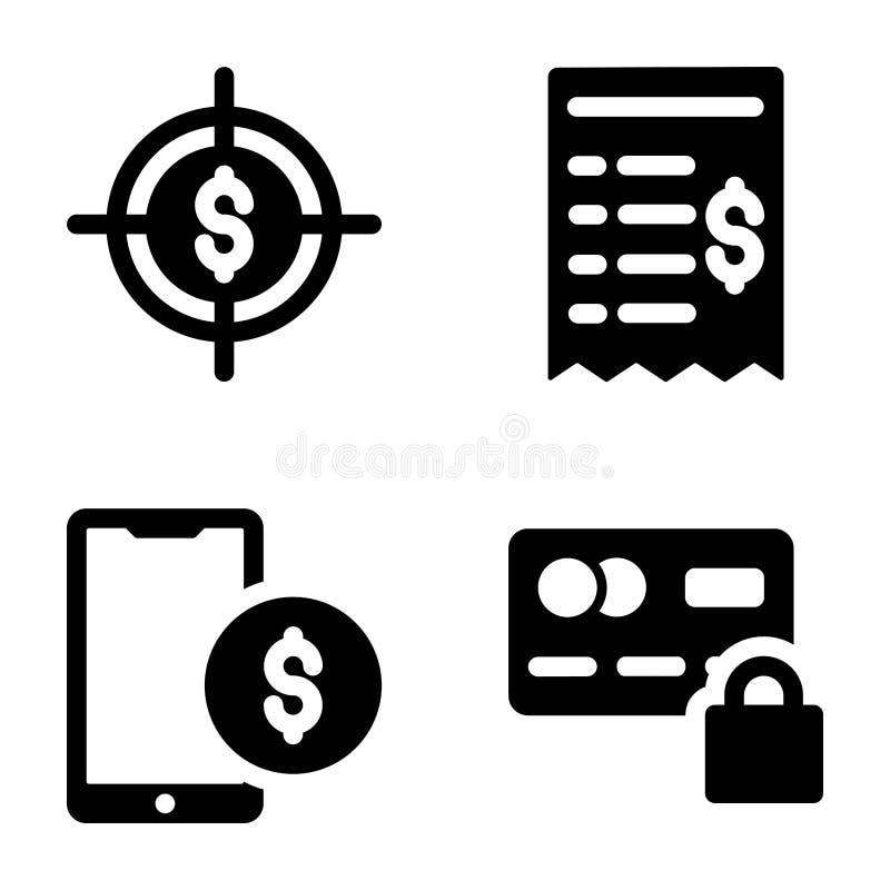 Finanzfeste Ikonen stock abbildung