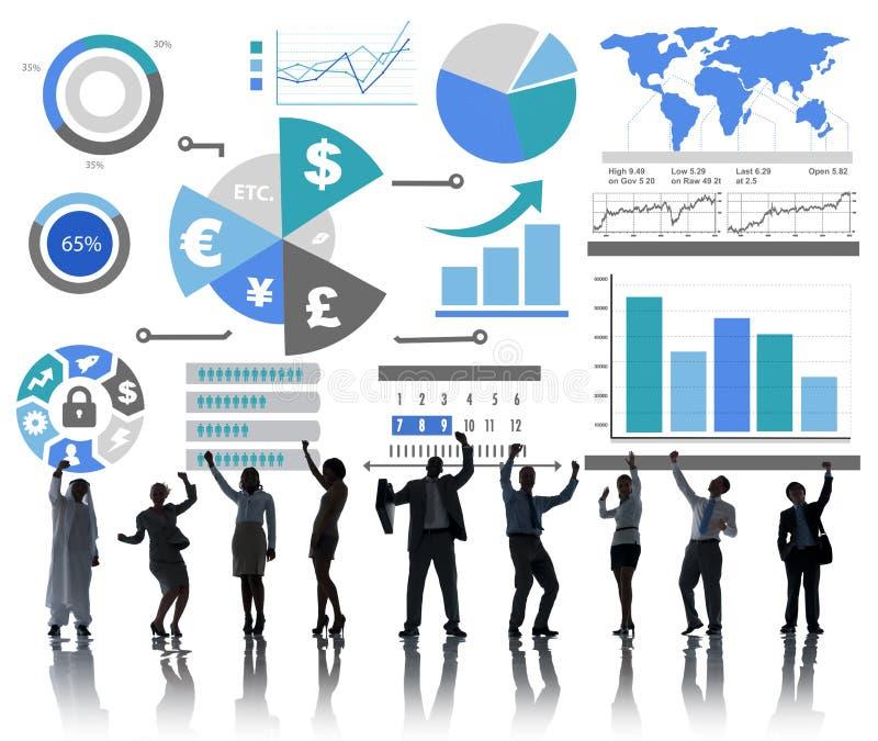 Finanzfinanzgeschäfts-Wirtschafts-Austausch-Bilanzauffassung vektor abbildung