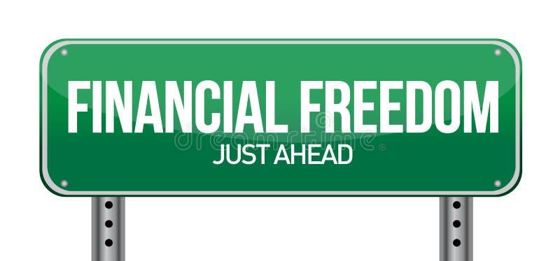 Finanzfreiheits-Straßenschild vektor abbildung