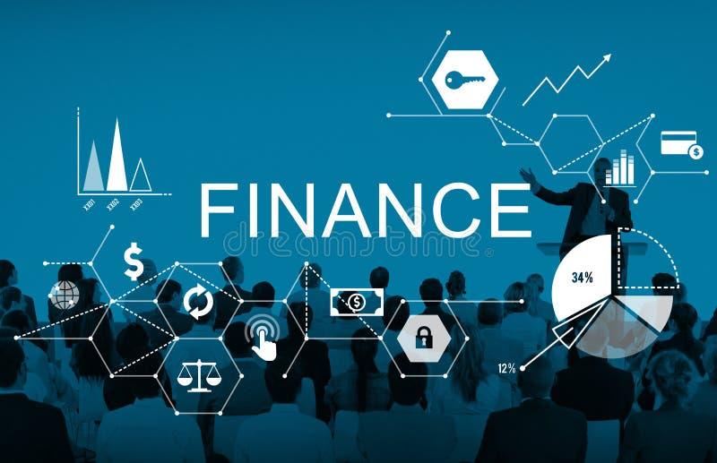 Finanzgeld-Schuld-Habensaldo-Konzept stockfotografie